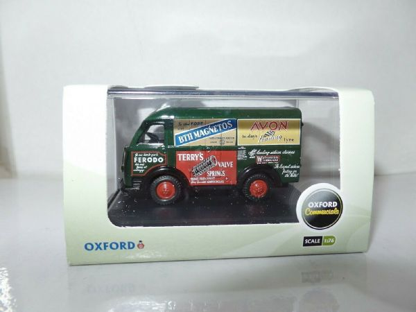 Oxford 76AK006 AK006 1/76 OO Austin 3 Way Van Eric Oliver Racing Terry Springs